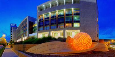 IU Simon Cancer Center - night view