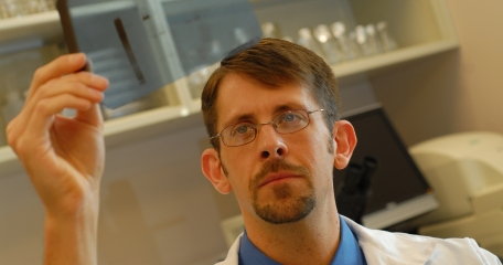 Dr. Bryan Schneider in the lab